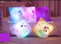 bearing pillow china - Square Bear Pillow Stuffed Plush Toys Light Up Pillow Toys Made in China