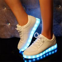 flat shoes - new casual Skate board sneakers Women shoes large size LED Luminous shoes flat shoes Sports shoes Sneakers