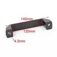 aluminum door pulls - 20pcs of Cabinet Drill Oblong Pull Handle Black Aluminum Knob of Door
