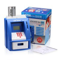 bank coin counting - Excelvan Mini Home Kids ATM Digital Bank Coin Note Money Counting Savings Machine Smart Home Smart Access Lock