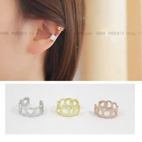 Wholesale Korean version simple thread empty moon and the stars love snowflake earrings sterling silver ear clip