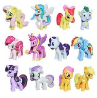Wholesale Big discount My Little Pony Cake Toppers Doll PVC Action Figures Toys Colourful set cm By DHL