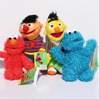sesame street - 23cm Sesame Street Elmo Cookie Ernie Bert Stuffed Plush Doll Soft Toys For Children EMS
