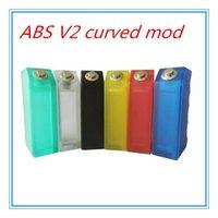 abs curves - 2016 Upgraded ABS V2 curved Box Mod Acrylic vapor ABS Box Mod for Dual Battery Vapor Mechanical Box Mod VS cherry bomber DNA w