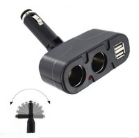 Wholesale 4 Way Twin USB Car Adaptor Charger Cigarette Lighter Splitter V Dual Adapter