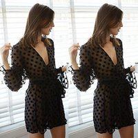 babydoll clothes - 2015 Fashion Women Transparent Sexy Lingerie Underwear Babydoll Sleepwear Lace point Dress Sex Clothing For Girls