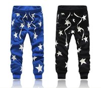 Wholesale 2015 New Men Printed Drop Crotch Harem Skinny Sweatpants Sports Baggy Pants Mens Casual Hip Hop Joggers Silm Bandana Trousers