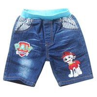 Wholesale 2015 New Kids Clothing Boy short pants Embroidery pants Denim Trousers Cartoon jeans pairs