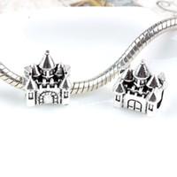 Wholesale Start Castle Charm Bead Silver Fashion Women Jewelry Stunning Design European Style For Pandora Bracelet Very Detailed