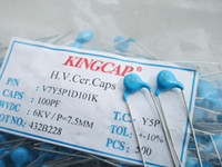 Wholesale New genuine original high voltage ceramic capacitors KV100PF0 NF6000V feet away from the feet of copper MM
