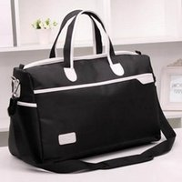 Wholesale Large capacity travel waterproof nylon bag men and women sport bag oblique package long single shoulder duffel bag
