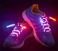 Wholesale LED Flashing shoe laces Fiber Optic Shoelace Luminous Shoe Laces Light Up Shoes lace pair