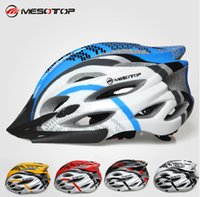 Wholesale Excellent quality MESOTOP Ultralight Adjustable Integrally molded Net EPS PC Road Bicycle Cycling Sports Mountain Helmet MTP