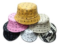 Wholesale Fashion MCM Leather bucket hats for men and women fishing camping hats travel outdoor Leather hats bape bucket hat caps