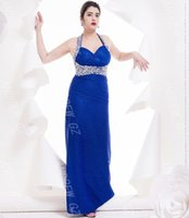 Wholesale 2015 Ready To Ship Floor Length Beautiful Applique And Shinning Beading Elegant Evening Dress Prom Dress