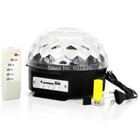 Wholesale Digital RGB LED Crystal Magic Ball Effect Light MP3 SD USB DMX Stage Lighting Remote Control A1