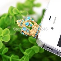 anycall phones - Fashion Cross Crown Anti Dust Earphone Jack Cap Plug Stopper For iPhone Anycall All Cell Phone mm
