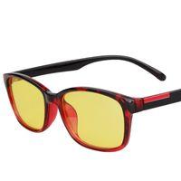 anti radiation - Anti Fatigue Gaming Glasses Radiation resistant Glasses Anti Rays Computer Goggles Black Red Matte Black Black Transparent