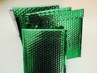 mail bags - 20 cm Green Poly Bubble Mailer Envelope Aluminum Foil Shockproof Packaging Bubble Mailing Bag