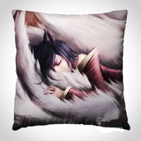 Wholesale Ahri Gumiho LOL League of Legends Hero Good Quality Silk Nylon Pillow cover Pillow case