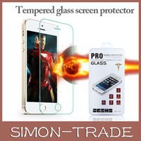 Wholesale For Iphone Iphone Plus Tempered Glass Screen Protector mm Coated Glass For IPhone Samsung Galaxy S4 Retail Box