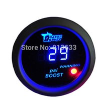 Wholesale In stock new NEW quot mm CAR MOTOR AUTO DIGITAL BLUE LED PSI TURBO BOOST GAUGE METER white