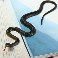 Wholesale Black Snake Toy Halloween Prank Prop Gift Decor trick Reptile Model Replica kid Novelty Gift For Firend
