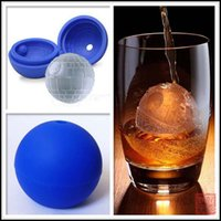 Wholesale 2015 Star Wars Silicone Ice Tray Ice Chocolate cake Cube Mold Falcon creative Death star ice cube mold for whiskey J080606 DHL FREESHIP
