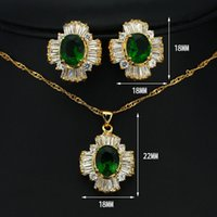 aqua gift box - combined exports Square pendant earrings jewelry box products ghost green crystal