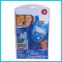 Wholesale Dental Tooth Whitening Gel Teeth Cleaner Whitener System Whitelight Kit Set White light Women men girls Tooth Care Brightening DHL