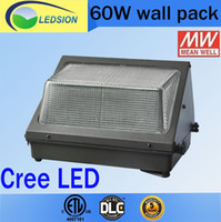 Wholesale Oversea warehouse stock CREE LED W W W led wall pack Outdoor Wall Mounted light K meanwell driver DLC ETL Listed V