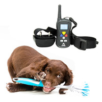 Wholesale Shock Vibrate Dog Training Collar Water proof Electric No Barking Pet Collar LCD Display Remote Training Collar DTC008