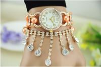 Wholesale Exclusive handmade original form the Korean version Rhinestones pearl tassel bracelet Upscale fashion ladies watches