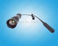 al por mayor interruptor de la linterna del zumbido-Creativa ~ zoom Caza Linterna con interruptor remoto 2000LM enfoque ajustable CREE XM-L2 linterna U3 5M LED (1x18650 / 3xAAA)