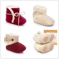 Wholesale Korean infant baby shoes boots thick warm cotton boots baby boots slip film bottom half of men and women