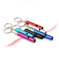 Wholesale 3pcs Aluminum Alloy Whistle With Key Ring Emergency Rescue Survival Whistle For Help os107