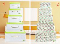 Wholesale 2016 New underwear Non woven Folding storage box Style TLarge Jumbo Clothes Bedding Duvet Zipped Handles Folding Storage Bag Box