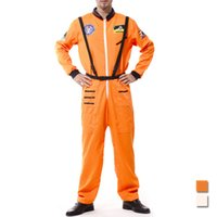 adult astronaut costume - Cosplay Costumes Halloween Costume for Men Adult Stage Performance Clothing Astronaut Spacesuit Orange SW0089