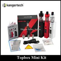 starter beginner - Original Kanger Topbox Mini W Kit Subox Mini Pro Starter Kit Top Refilling Tank Watt TC Mod Newest KangerTech Beginner Kit