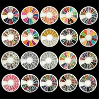 Wholesale Hot Sales Nail Art Rhinestones Glitters Acrylic Tips Decoration Manicure Wheel Style TX45