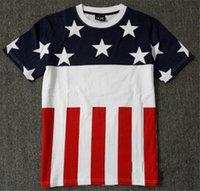 american flag t shirt - Men Hip Hop Fashion American Flag T Shirt USA SWAG Style Designer Short Sleeve TShirts Tees M XXL AY999