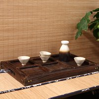antique kitchen items - Paulownia Wood Japanese Antique Serving Tray with Lacquer Pieces for Tea Coffee and Breakfast Other Food Items