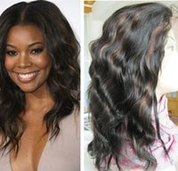 french lace for wigs - Indian remy hair body wave b highlighted Human hair full lace wigs with baby hair all around for lady