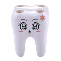 Wholesale Novelty Hole Teeth Style Toothbrush Holder Brushed Rack Tooth Brush Shelf Holder Bracket Container For Bathroom