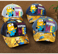 baseball baby gift - kids hat Minions denim Baseball Cap hiphop cap baby boys girls unisex minion cap for kids snapback hats caps Christmas Gift