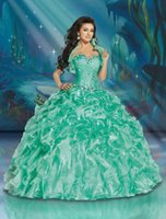 beaded bead dolls - With Jacket Green Quinceanera Dresses Sweetheart Beaded Ruched Pleat Sequins Baeding New Quinceanera Gowns Doll Prom Gown Evening Dress