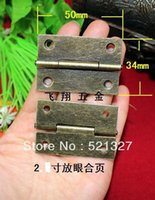 Wholesale 2 inch flat look hinge antique wooden box gift packaging accessories hinge Decoration MM