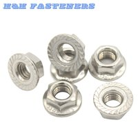 Wholesale A2 Stainless Steel Flange Nuts M3 M4 M5 M6 M8 M10 M12 Fit Metric Screw Bolt