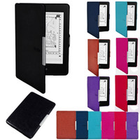 Wholesale Hot Sales Ebook Reader Accessories Kindle Paperwhite Ultra Slim Magnetic Smart Case Cover PU Leather Colors HX14