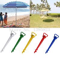 beach umbrella holders - pc Beach Garden Patio Sun Umbrella Holder Parasol Ground Earth Anchor Spike Stand